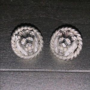 Anne Klein Silver Lion Earrings